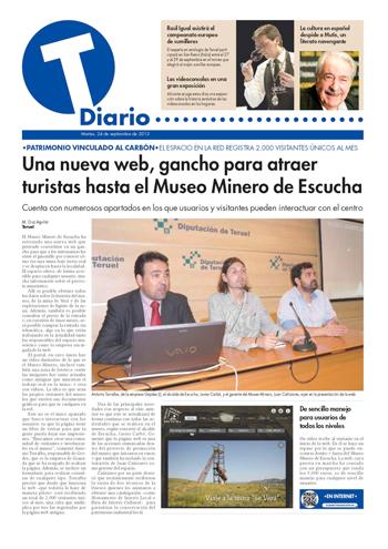 Presentación oficial del nuevo portal web del Museo Minero de Escucha en la Diputación Provincial de Teruel