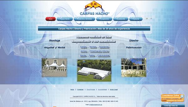 Portal Web Corporativo de CARPAS HACHO S.L.