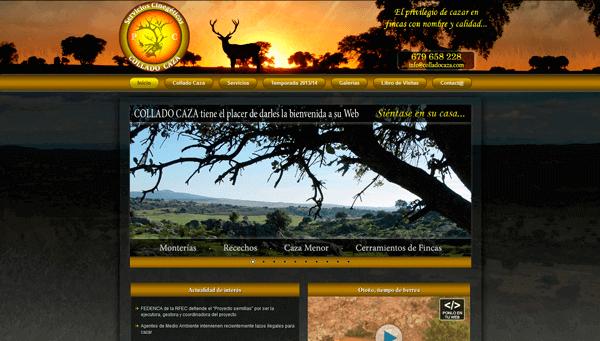 Sitio Web Corporativo de Servicios Cinegéticos COLLADO CAZA