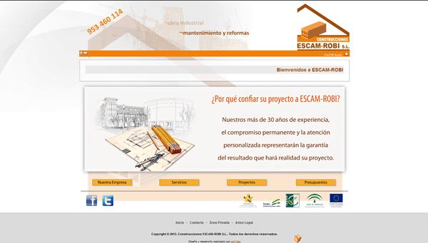 Sitio Web Corporativo | Construcciones ESCAM-ROBI S.L.