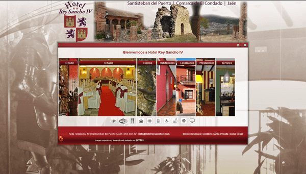 Sitio Web Corporativo | Hotel Rey Sancho IV