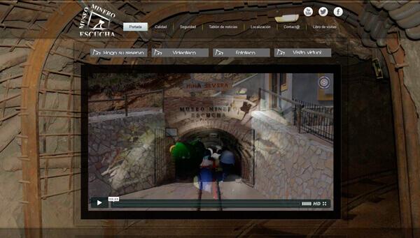 Portal Web Promocional del Museo Minero de Escucha (Teruel)
