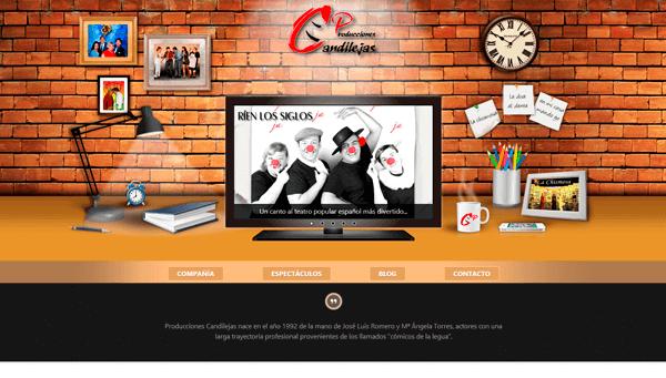Portal Web Corporativo de PRODUCCIONES CANDILEJAS S.L.