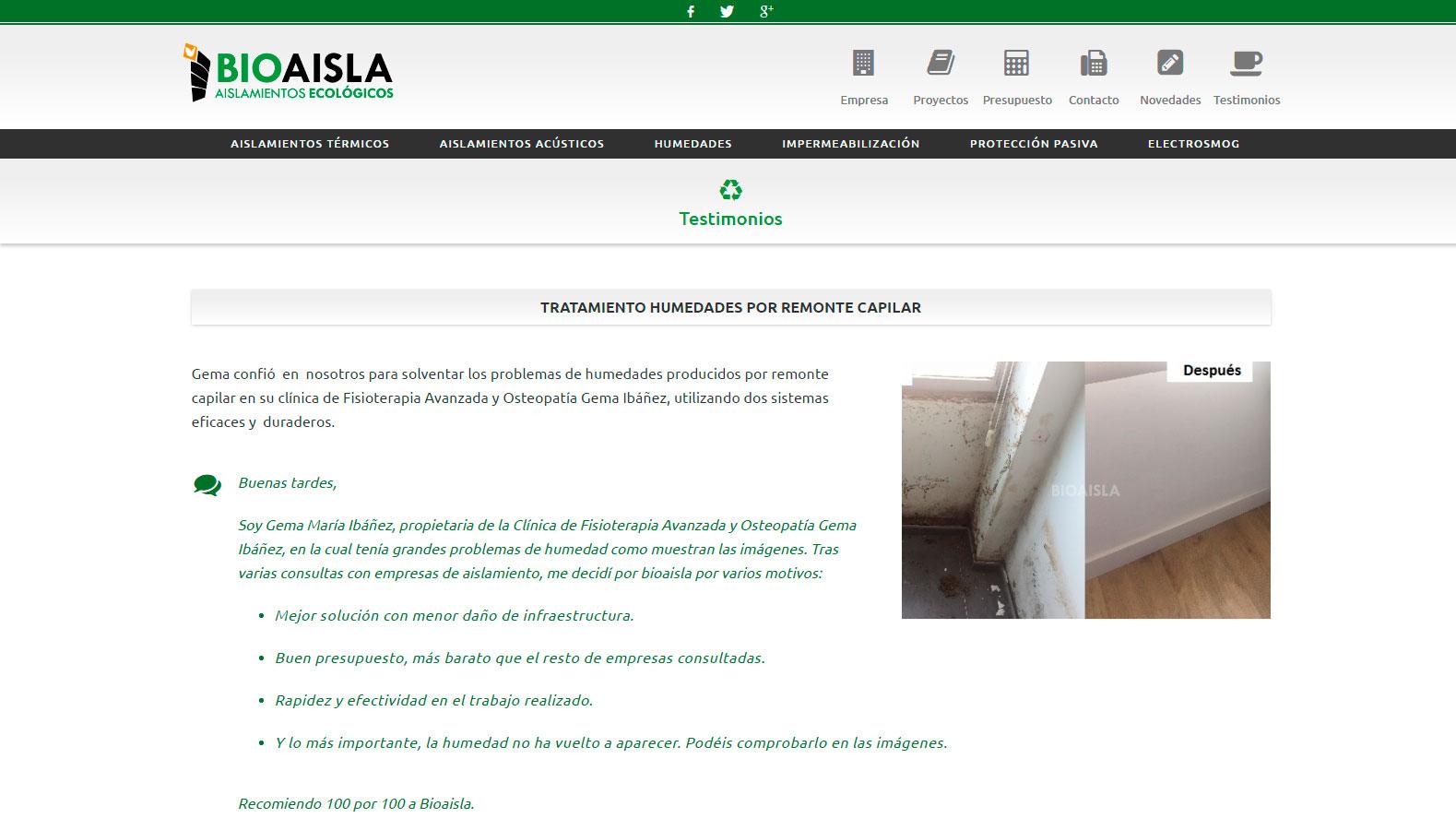 BIOAISLA | Aislamientos térmicos Granada