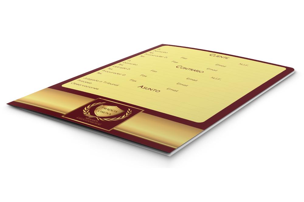Diseño y desarrollo de elementos corporativos para PRADOS OSUNA ABOGADOS