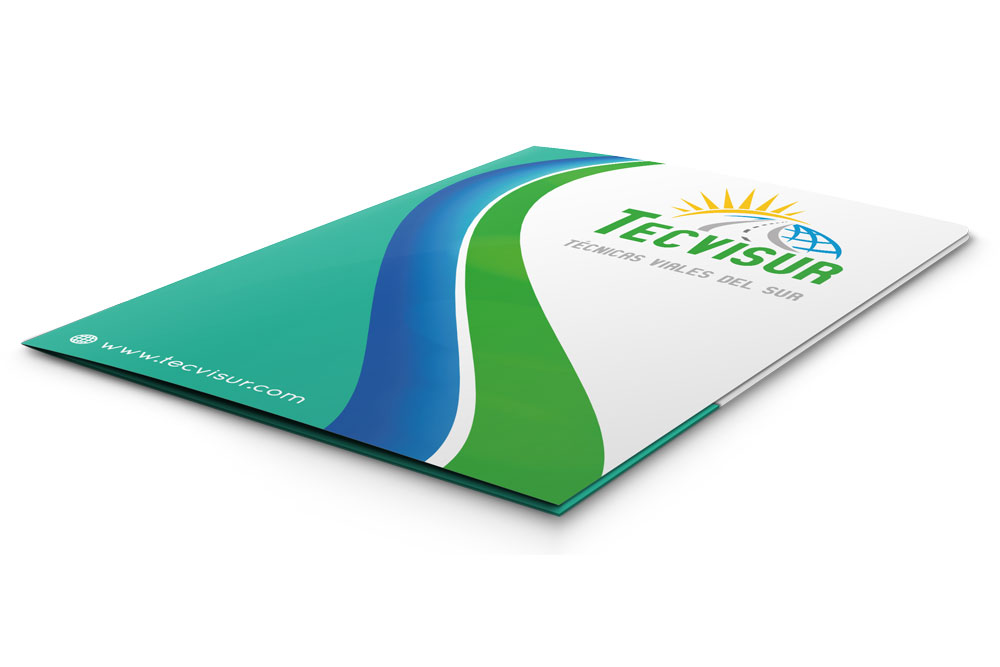 Diseño y desarrollo de elementos corporativos para TECVISUR