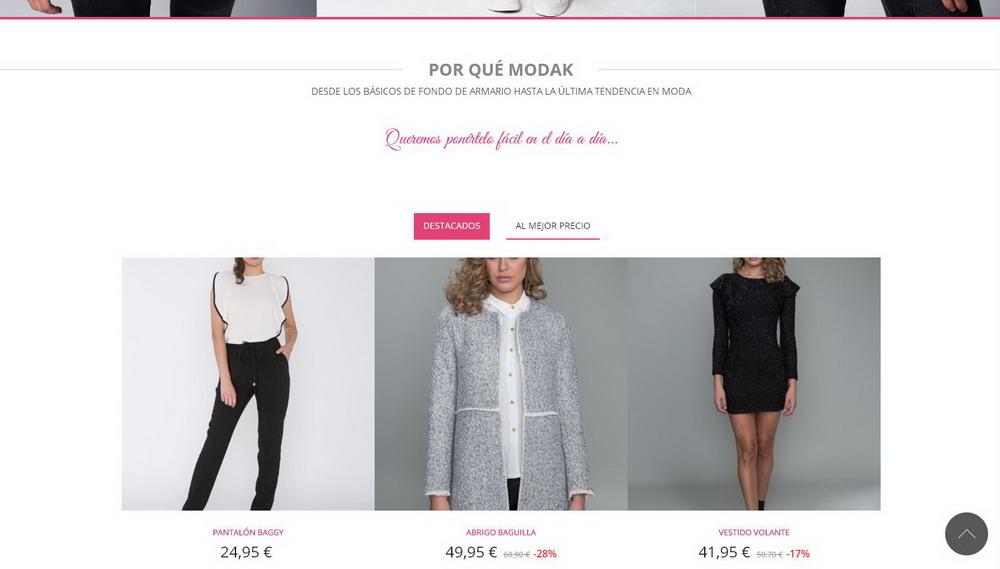 c7e10057a Página web moda ropa mujer