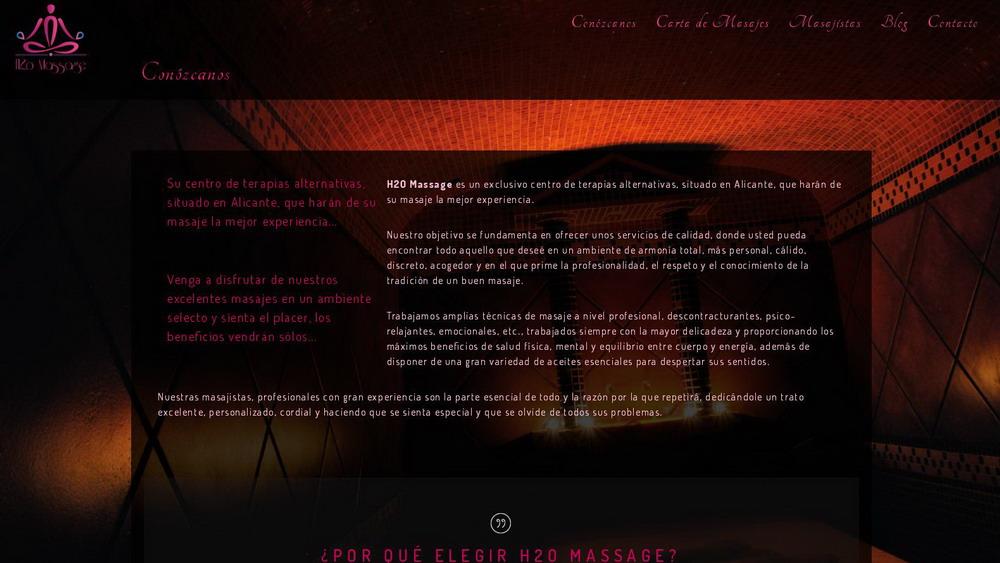Desarrollo de Sitio Web e identidad corporativa para H2O MASSAGE