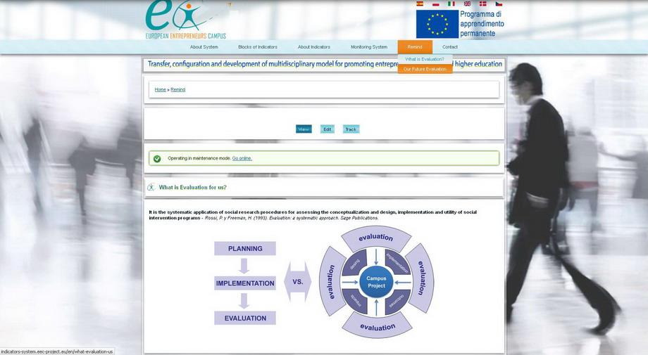 Sistema de Control y Captación de Indicadores | European Entrepreneurs Campus