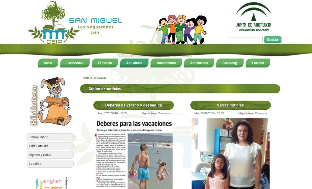 Página web colegio Granada, Málaga, Jaén...