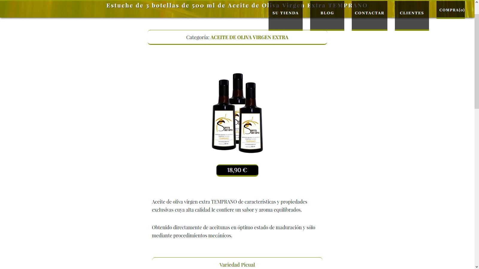 Páginas Web Aceite de Oliva