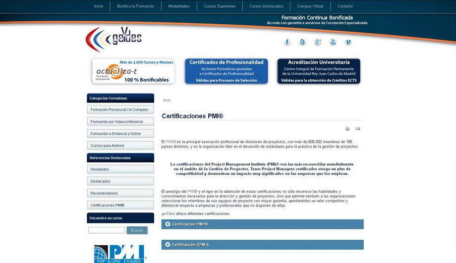 Nueva Plataforma Web de Planes Formativos