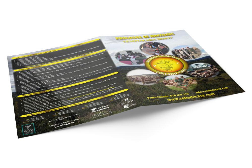 Programa temporada 2016/17 desarrollado para COLLADO CAZA