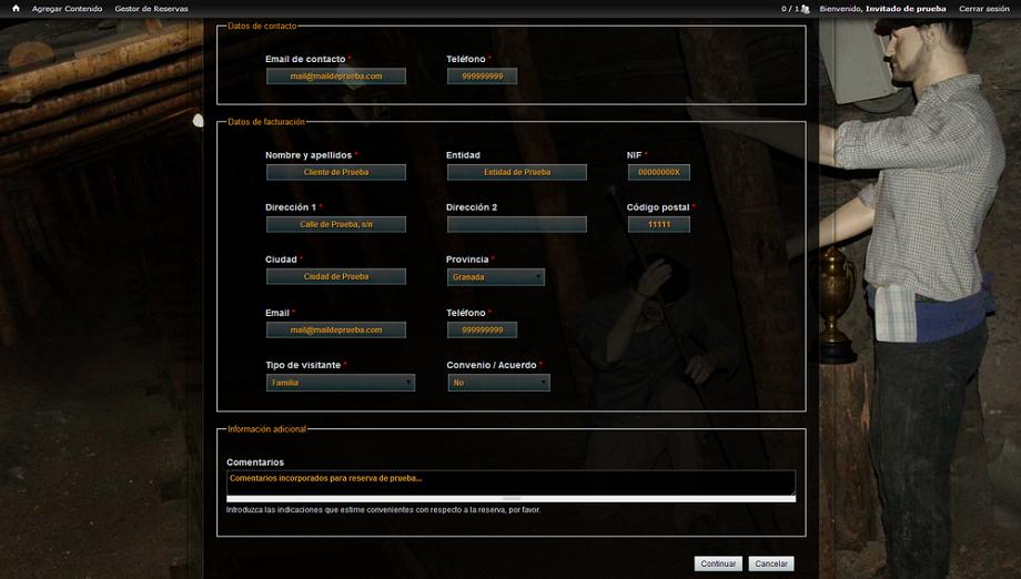 Sistema de Gestión de Reservas Online | Museo Minero de Escucha