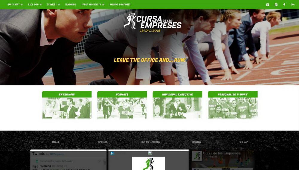 Traducción del sitio web Cursa de les Empreses