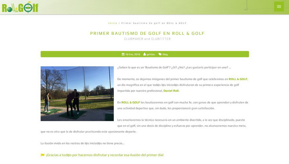 Roll & Golf, más que una simple web...