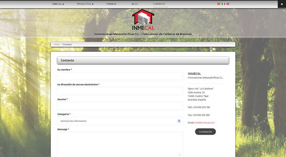 Publicación del nuevo Sitio Web desarrollado para INMECAL | Innovaciones Metacaloríficas S.L.