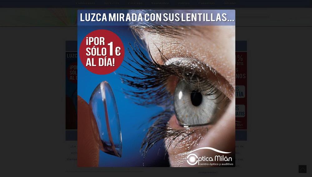 Página web óptica Granada, Málaga, Jaén...