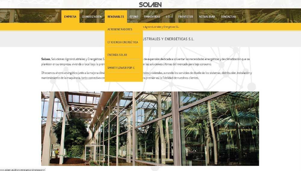 SOLAEN | Diseño Web Almería