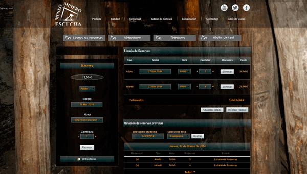 Sistema de Gestión de Reservas del Museo Minero de Escucha