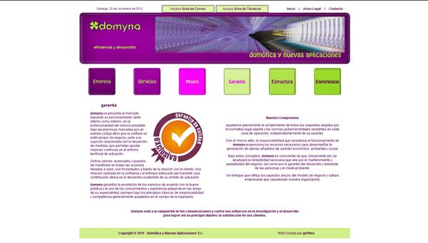 Sitio Web Corporativo de DOMYNA | Domótica y Nuevas Aplicaciones S.L.