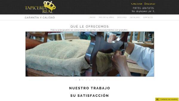 Posicionamiento web de Marca Corporativa para TAPICERÍA REAL
